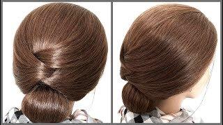 Прическа на короткие волосы разной длины.Легкий Способ!Hairstyle for short hair. Simple Way!