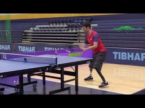 Parapan Am table tennis athletes training