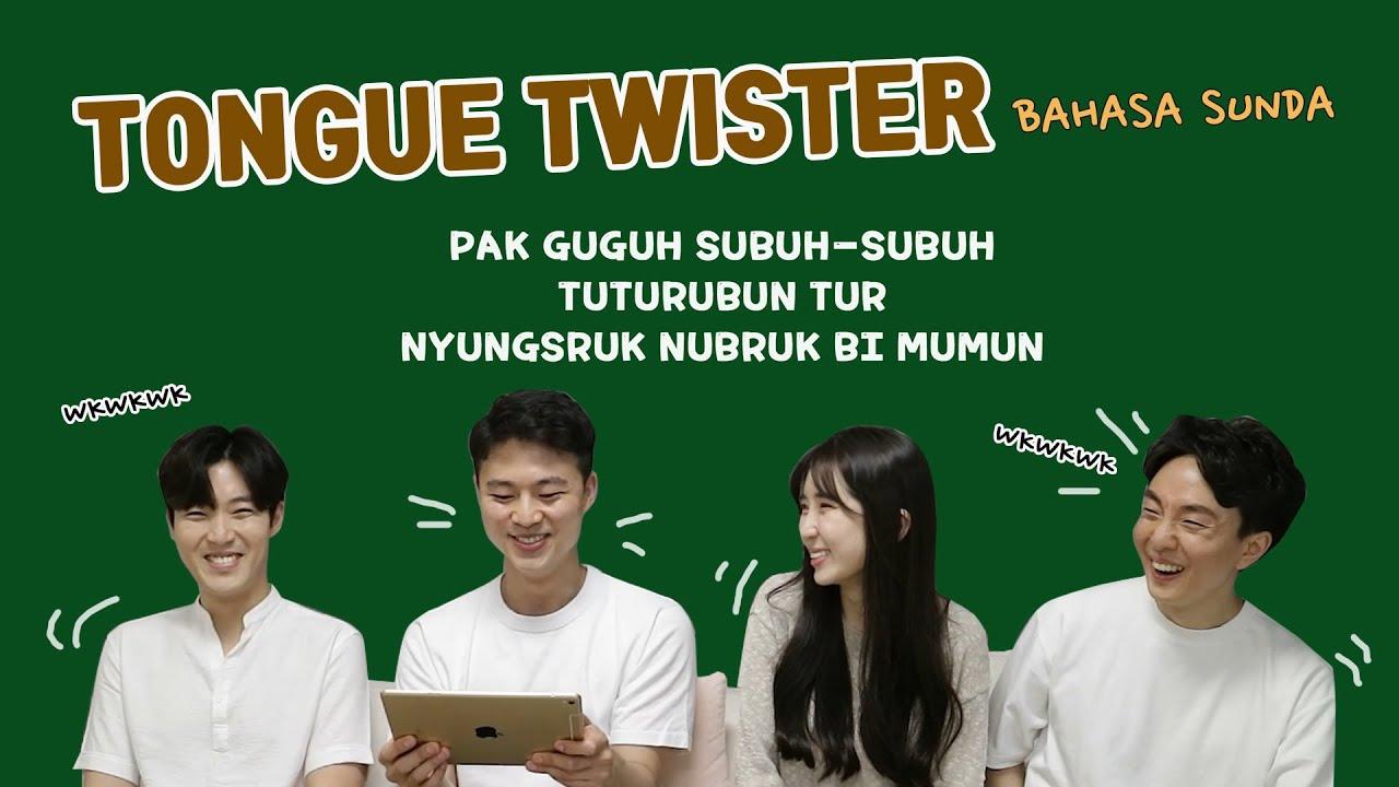 AJAK OPPA KOREA BATTLE TONGUE TWISTER BHS SUNDA?!?!