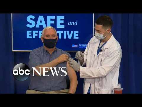 Vice President Receives COVID-19 Vaccine On Live TV L ABC News