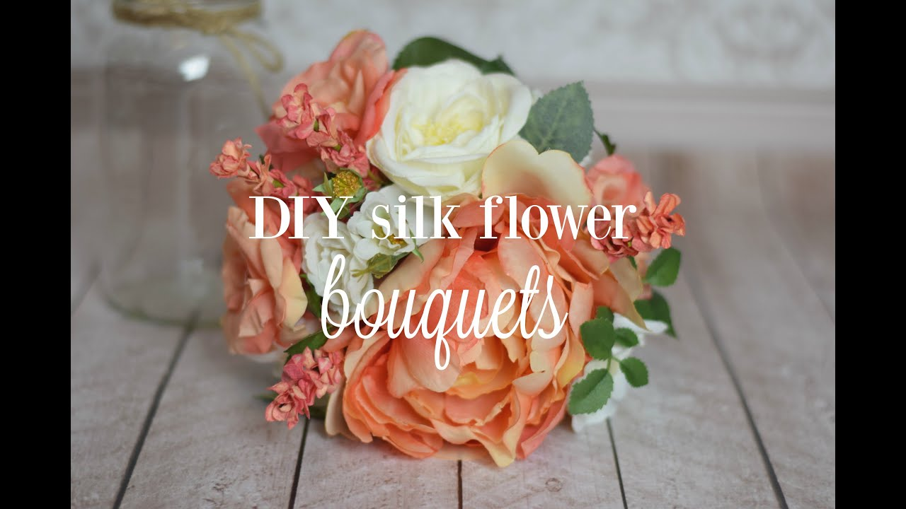 Diy silk flower bouquets youtube izmirmasajfo