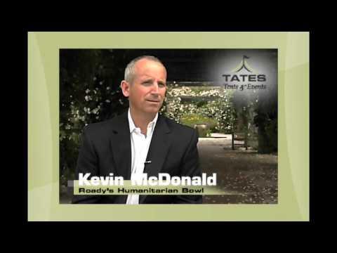 Tates Tents u0026 Events - Kevin McDonald | Roadyu0027s Humanitarian Bowl  sc 1 st  YouTube & Tates Tents u0026 Events - Kevin McDonald | Roadyu0027s Humanitarian Bowl ...