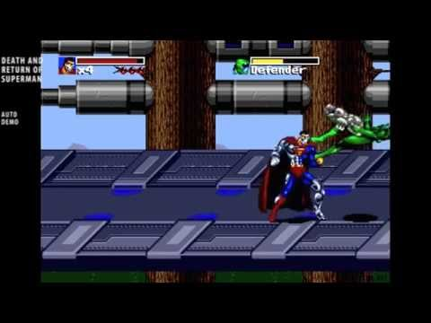 The Death and Return of Superman / auto demo / Sega Genesis 1995