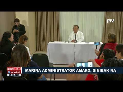 NEWS BREAK: Marina Administrator Amaro, sinibak na