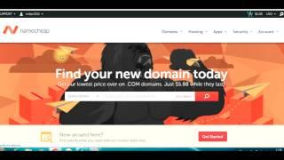 Купить домен дешево на namecheap и привязать к хостингу