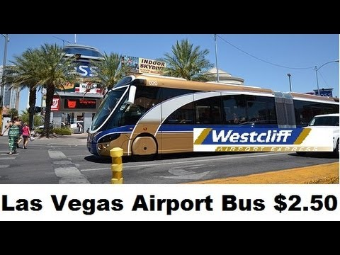 Las vegas; Public Transportation from Airport (WAX Bus) $2.50