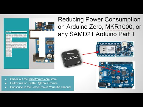 ForceTronics: Reducing Power Consumption on Arduino Zero