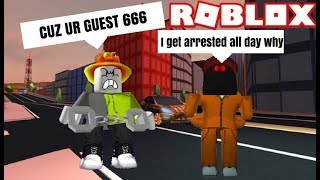(Roblox) Playing as Guest 666 in Jailbreak *Arrested everytime when escaping*