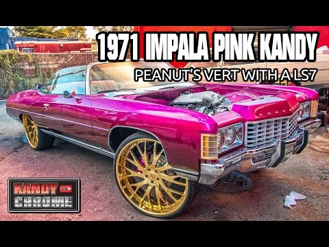 1971IMPALA VERT PINK KANDY WITH A LS7