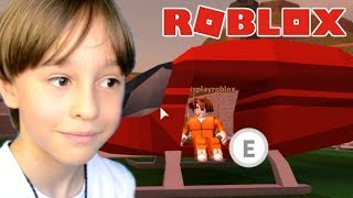 STRAINED ESCAPE IN ROBLOX JAILBREAK | FAMILY PLAYING