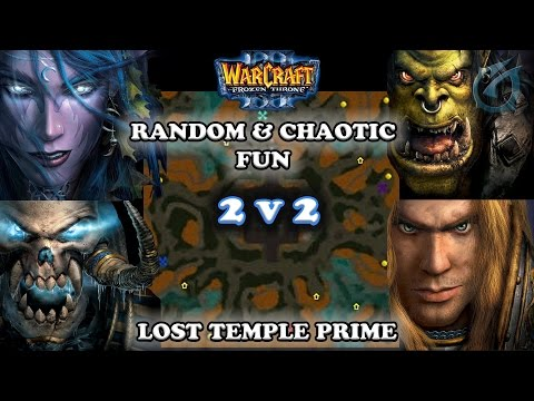 Grubby | Warcraft 3 The Frozen Throne | 2v2 NE & UD v ORC & HU - Lost Temple Prime