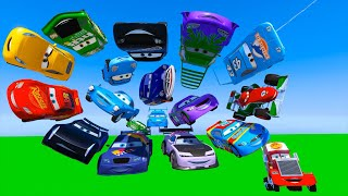 Race All Cars Disney McQueen Jackson Storm Cruz Ramirez Chick Hicks The King Francesco and Friends
