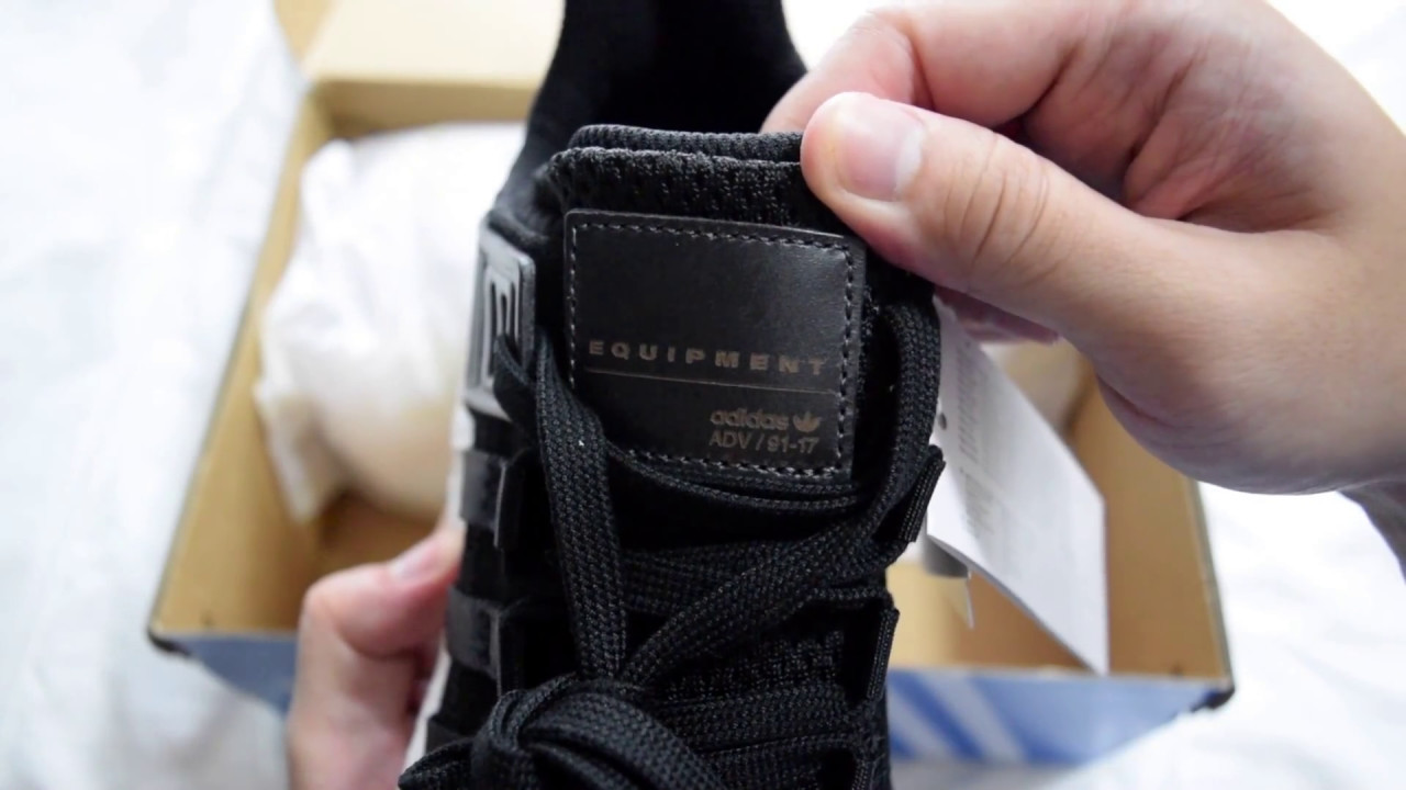 newest c813d f732e 1 Minute Unboxing - Adidas EQT Support 9317 Milled Leather (Black)