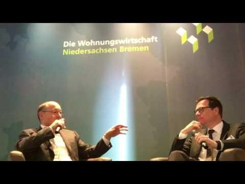 Rolf Buch, Vorstandsvorsitzender der Vonovia SE, im Gespräch mit NWZ-Chefredakteur Lars Reckermann