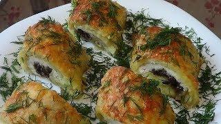 Рулеты Картошка в картошке с мясом и грибами