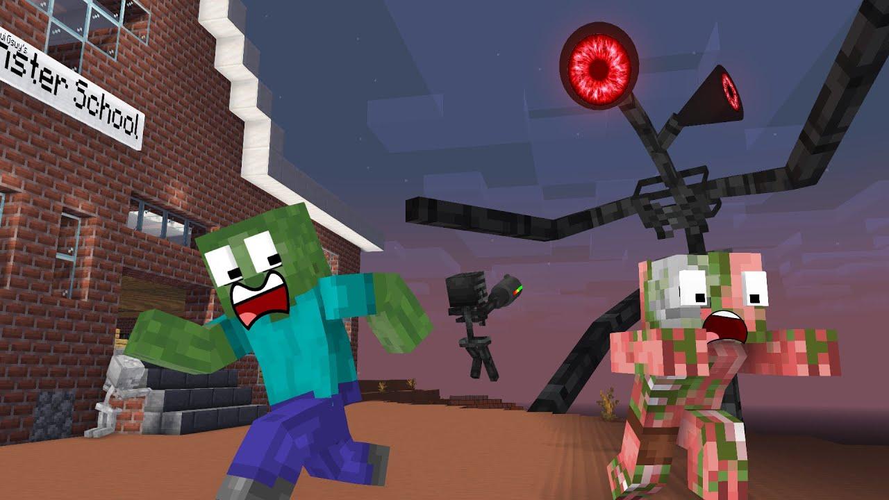 Monster School : SIREN HEAD ATTACK - Minecraft Animation