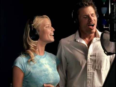 Jessica Simpson & Nick Lachey - A Whole New World (HQ Music Video)