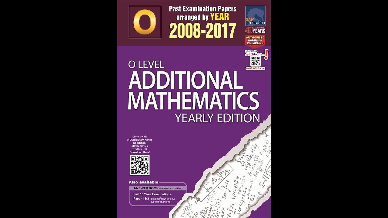 Add Maths O Level Book