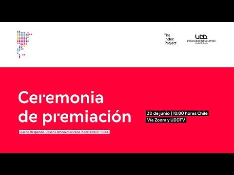 Ceremonia de premiación   Diseño Responde. Desafío latinoamericano Index Award + UDD