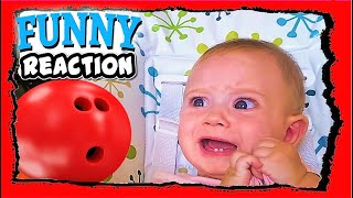 Funny Baby  Play Balls Reaction of little Giulia September 2019 Newborn Toy