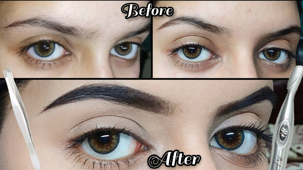 How To GROOM+SHAPE Your Eyebrows Using Only Trimmer and ...