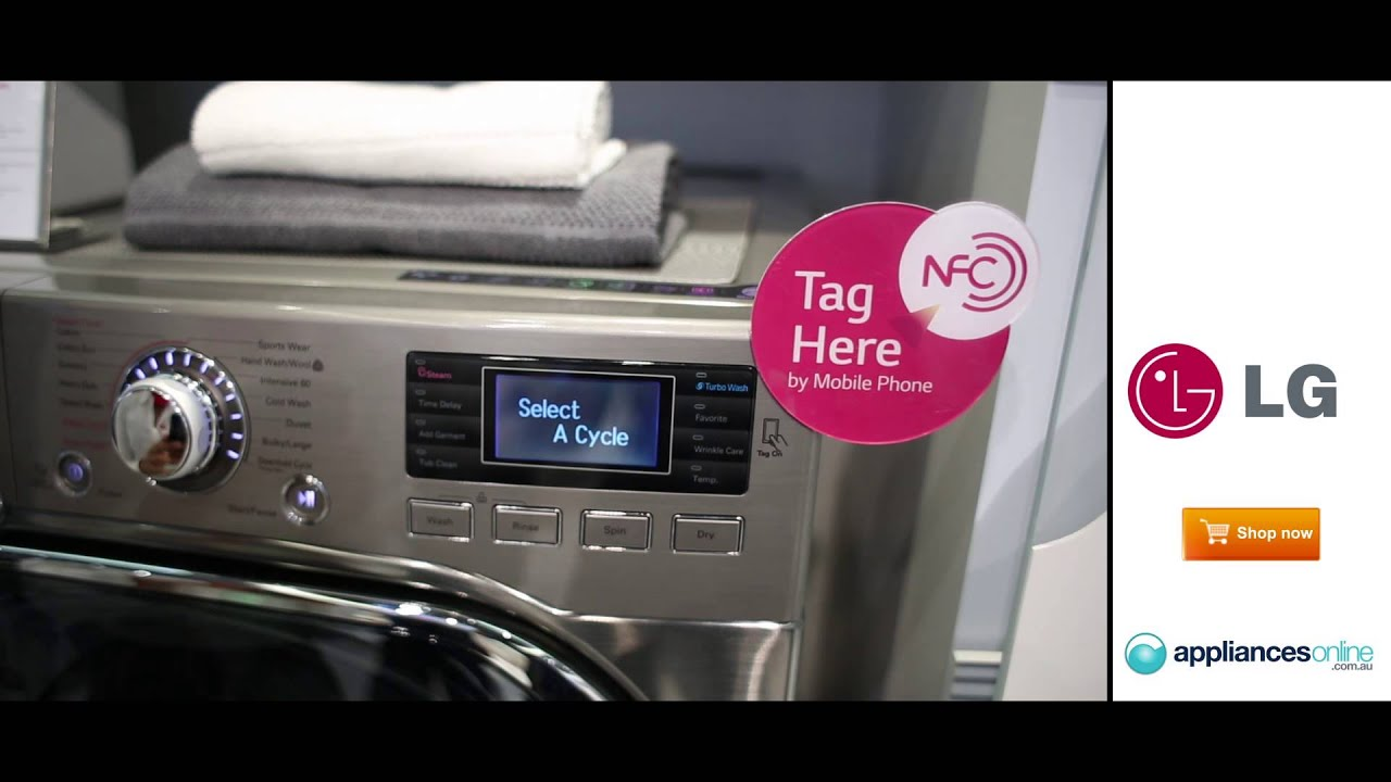 Smart Technology To Control Functions On The New Lg Washing Machine Appliances Online Youtube