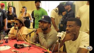 KENDRICK LAMAR + AB-SOUL + SCHOOLBOY Q + JAY ROCK - QUITTING RAP, BLACK HIPPY, CHARLESTON, HOT 97