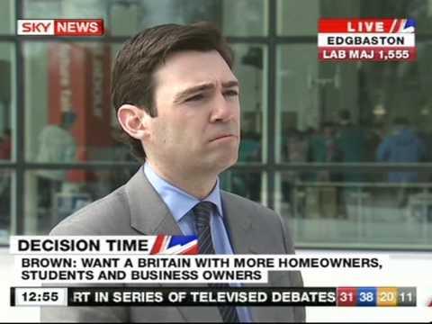 Andy Burnham(Health secretary) interviewed by Adam Boulton