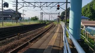 豊岡7:42発→鳥取行き(平日は、待避線に223系5500番台4両がいますが、撮影日は土日ダイヤです!!)