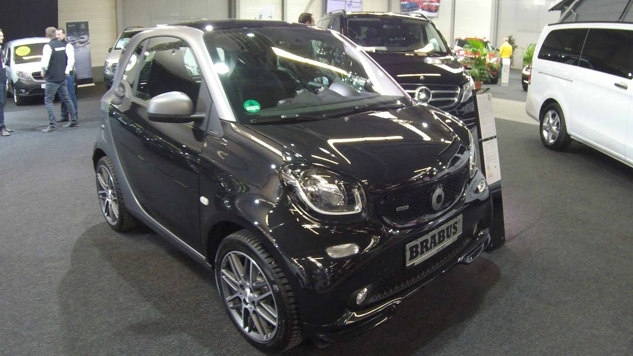 smart coupe for two brabus new model black colour walkaround and interior youtube. Black Bedroom Furniture Sets. Home Design Ideas