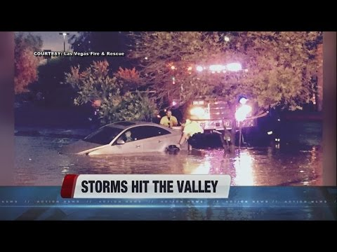 Cleanup after storms hit Las Vegas valley