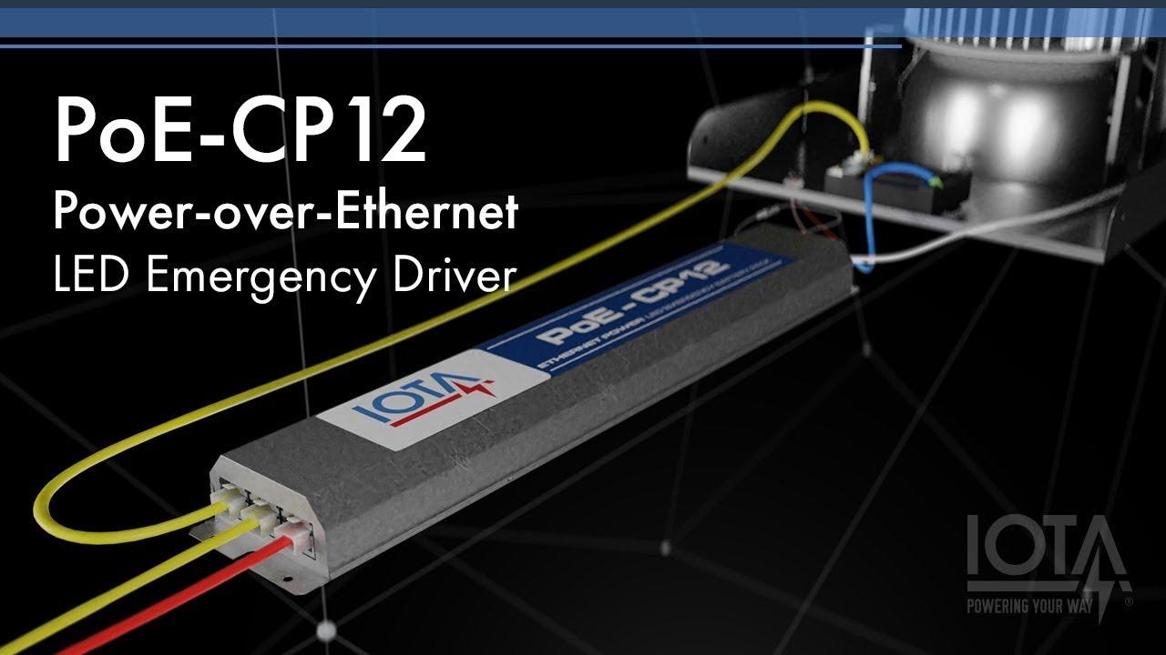 the iota poe cp led emergency driver for power over ethernet lighting