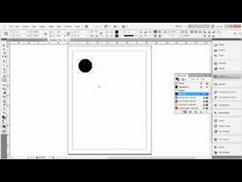 Adobe Indesign Tips How To Draw A Black Circle With Indesign Youtube