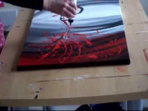 Abstract schilderij explosion uit de abstracte schilderijen collectie van isisart.nl