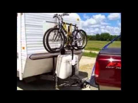 Bike Rack For Travel Trailer - YouTube