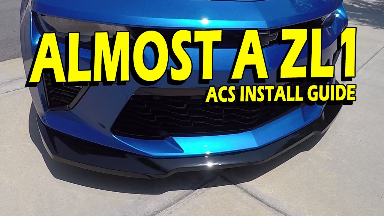Install Guide Zl1 Front Splitter For Camaro Ss Amp Ss 1le