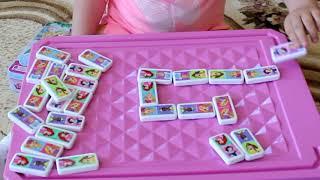 ДИАНА Видео для детей УЧИМСЯ ИГРАТЬ В ДОМИНО Domino Princess Disney.