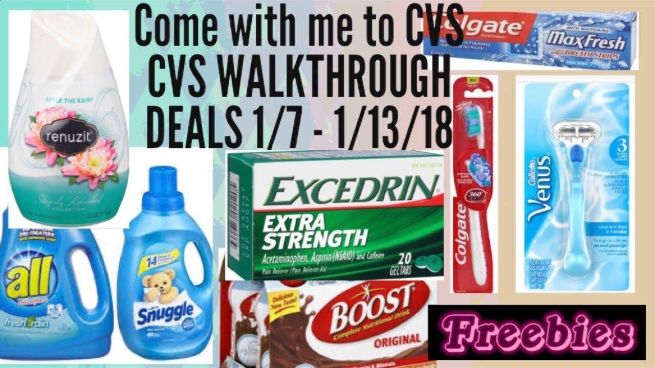 Come with me to CVS  CVS walkthrough Deals starting 1/7/18