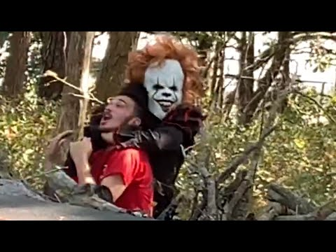 fiendish-clown-drags-man-into-the-woods