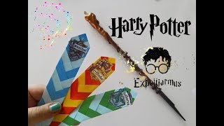 Potterhead 👈👈  Harry ⚡ Potter Kitap Ayracı DIY 💫 ✨ 👣 Potter Bookmark