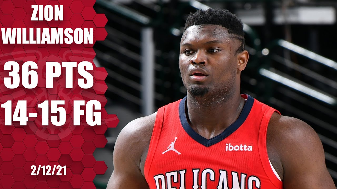 Zion Williamson puts up career-high 36 points and only misses one shot [HIGHLIGHTS] | NBA on ESPN