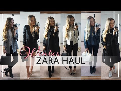 ZARA HAUL AND TRY ON WINTER 2017 | + GIVEAWAY!