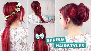 QUICK & EASY HEATLESS HAIRSTYLES FOR SPRING!
