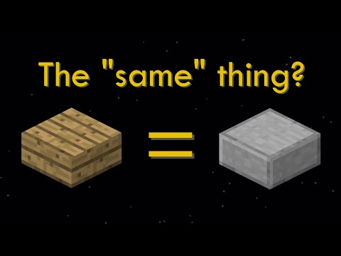 Minecraft's Wooden Slab that's Actually Stone