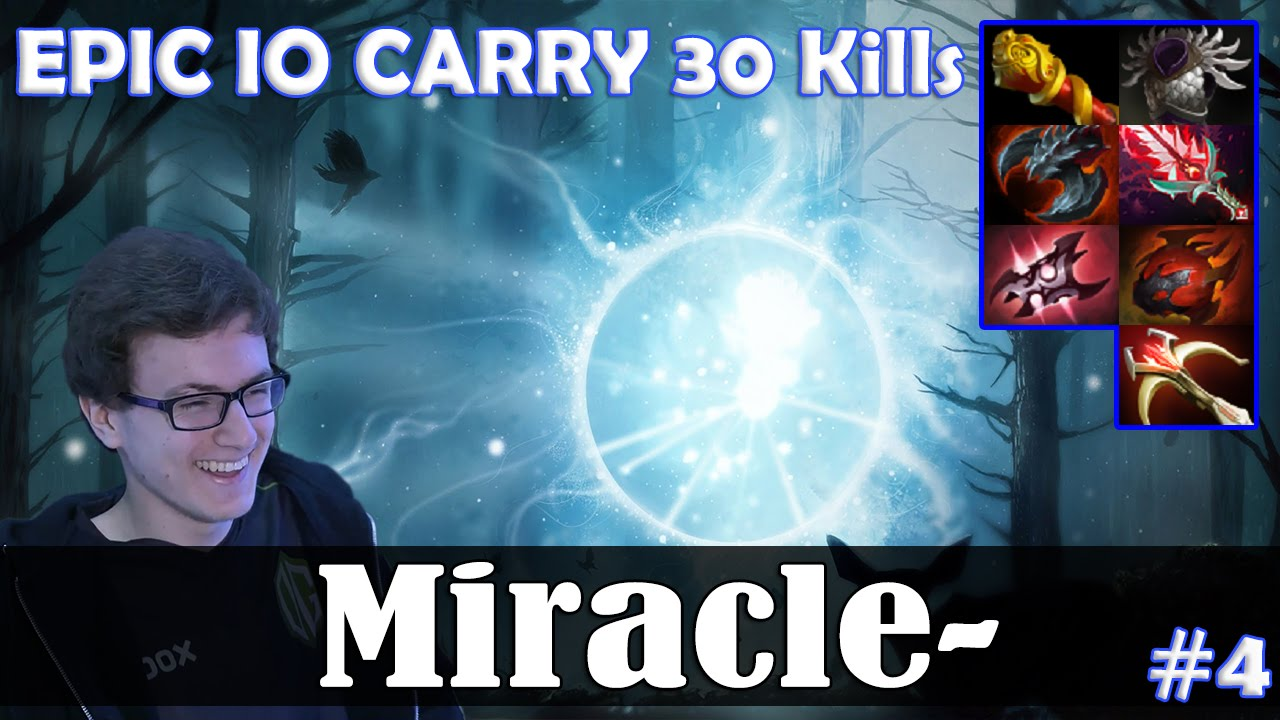 Miracle IO MID EPIC IO CARRY 30 Kills Dota 2 Pro MMR Gameplay 4 YouTube