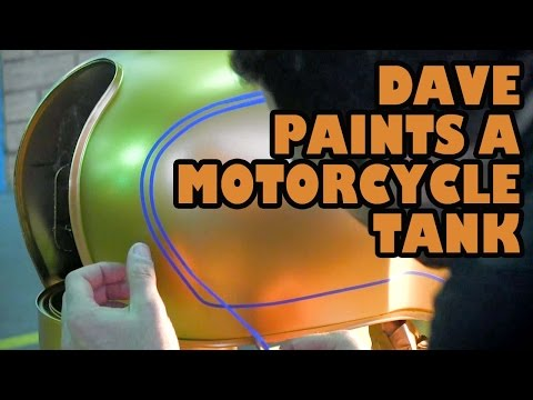 Dave Paints a Motorcycle Tank