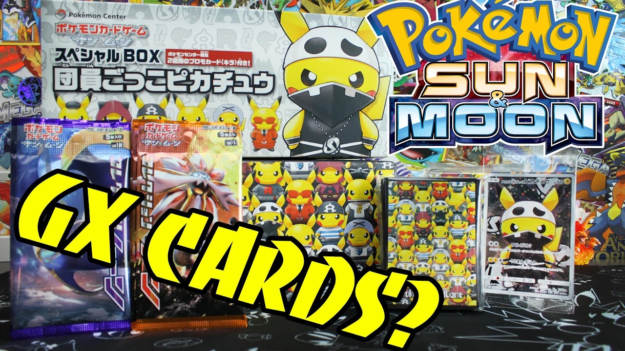 Pokemon Cards Opening A Team Skull Pikachu Cosplay Collection Box