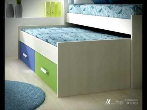 Animaci n infograf a 3d apertura cama nido juvenil youtube for Como hacer una cama nido con cajone