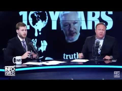 "Alex Jones Goes Off On Julian Assange: ""Move Bitch, Get Out The Way!"""