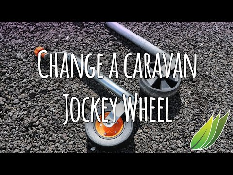 Changing a caravan jockey wheel